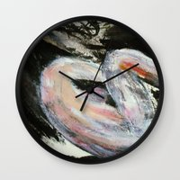 study Wall Clocks featuring Expressionism Female Study by James Peart