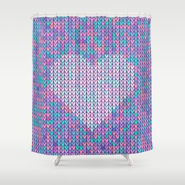 Heart Knit I Shower Curtain
