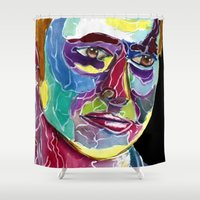 david tennant Shower Curtains featuring Tenth Doctor / David Tennant by Siriusreno
