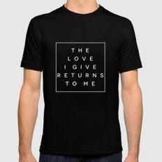 The Love I Give II MEDIUM Mens Fitted Tee Black