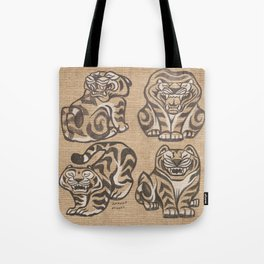Stone Tigers Tote Bag