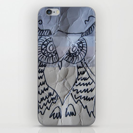 gray owl 02 iPhone & iPod Skin