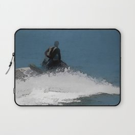 Ready to Make Waves - Jet Skier Laptop Sleeve