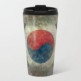 National flag of South Korea, officially the Republic of Korea, Vintage version to scale Travel Mug