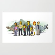 Jurassic World Simpsonized Art Print