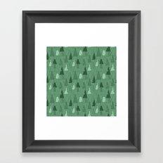 Forest Pattern Framed Art Print