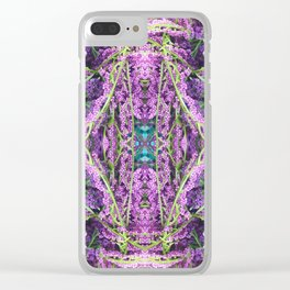 302 - Abstract Lilac Design Clear iPhone Case