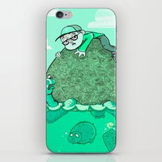 the boy and his tortoise iPhone & iPod Skin