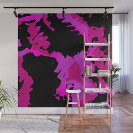 Fuchsia and black abstract Wall Mural