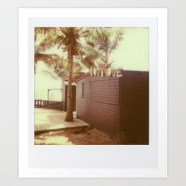 Vintage Polaroid Palm Trees (iPhone Case) Art Print
