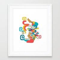 mythology Framed Art Prints featuring Mayan Mythology by Meeta Panesar