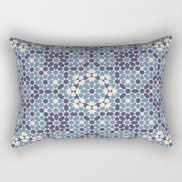 Moorish Desert Blues Rectangular Pillow