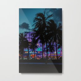 Miami By Night | Fine Art Travel Photography Metal Print