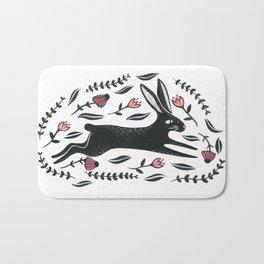 Running Bunny Bath Mat