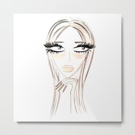 Lady Browny Metal Print