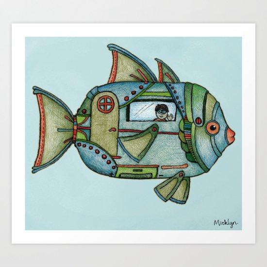 Aqua Gypsy Art Print