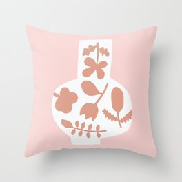 Floral Vase | Pinks Throw Pillow