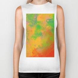 Taste The Rainbow - Multi coloured, abstract, textured painting Biker Tank