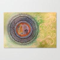 virgo Canvas Prints featuring Virgo by Jen Hallbrown