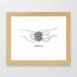 happiness pill Framed Art Print