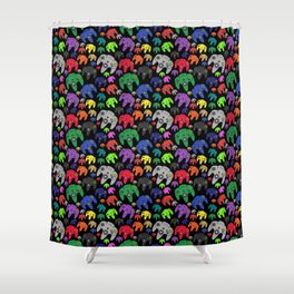 Nintendo 64 Flock of Controllers Shower Curtain
