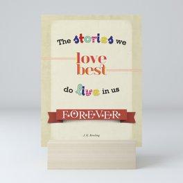 The Stories We Love Best - J.K. Rowling Mini Art Print
