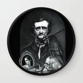 Edgar Allan Poe Portrait Wall Clock