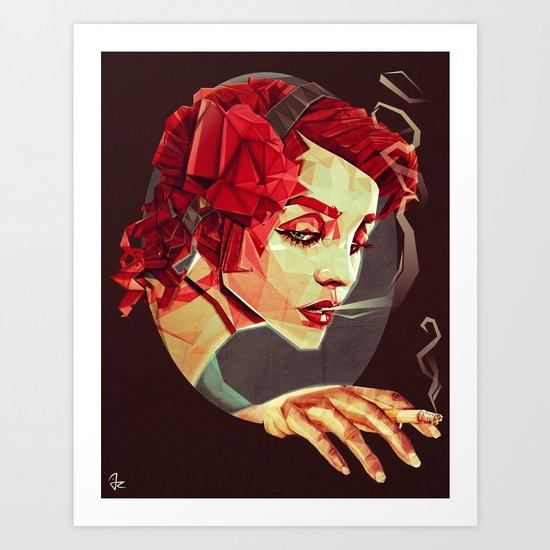 """""""Smoking Princess"""" Art Print"""