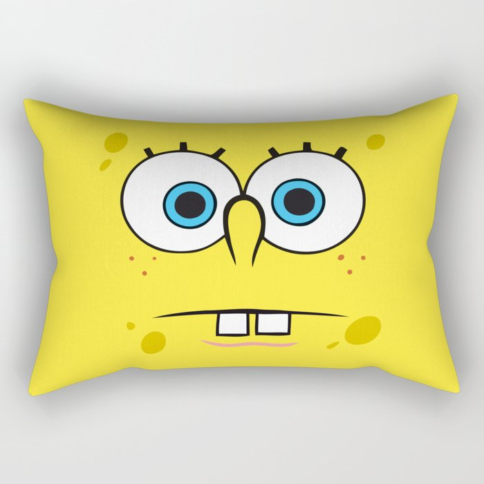 Spongebob Surprised Face Rectangular Pillow
