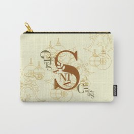 Santa Gifts Christmas Typo Carry-All Pouch