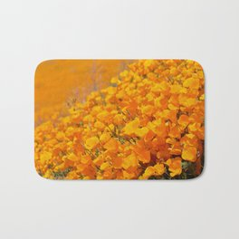 Golden Meadow of California Poppies in Bloom by Reay of Light Photography Bath Mat