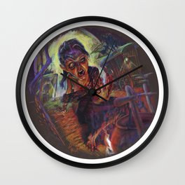 The Wolf Woman Wall Clock