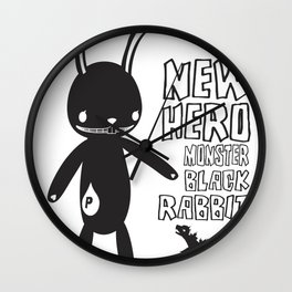 NEW HERO BLACK RABBIT MONSTER Wall Clock