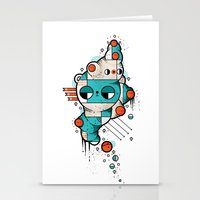 muscle Stationery Cards featuring Muscle cat by Randyotter
