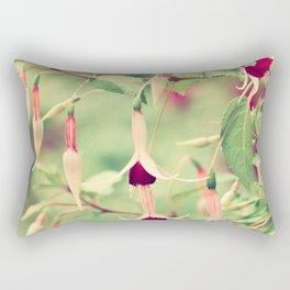 Beautiful Fuchsia Flowers Rectangular Pillow