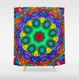 joy and energy -20- Shower Curtain