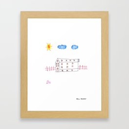 Big House, Little Car Framed Art Print