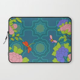 Nonya Peonies and butterfly Laptop Sleeve