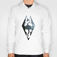 skyrim Hoodies featuring Skyrim Dragon by Victor Velocity