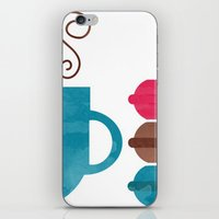 macarons iPhone & iPod Skins featuring Macarons  by Daniela Marti