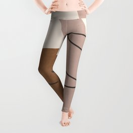 Minimal Abstract Art 6 Leggings