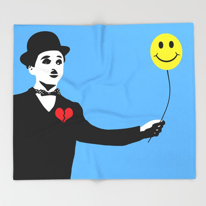 Silent Prodigy - Charlie Chaplin Throw Blanket