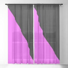 Anarcha Feminist Flag Anfem Sheer Curtain