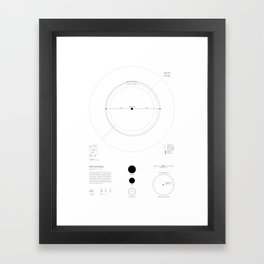 Exoplanet Keplar 442b Framed Art Print