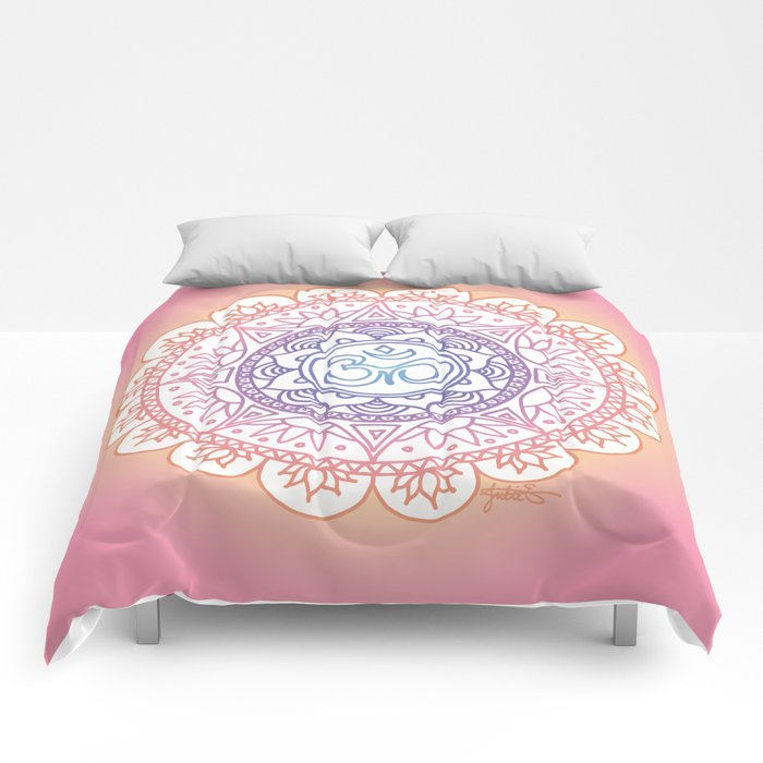Peaceful Ohm Mandala Comforters