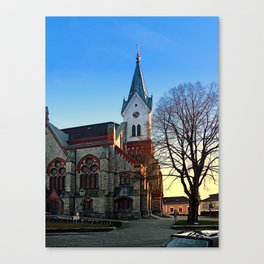 The village church of Aigen III   architectural photography Canvas Print
