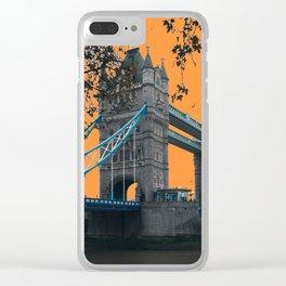 London Bridge with an Orange Sky Clear iPhone Case