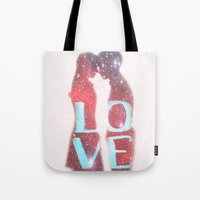 lovers Tote Bags featuring Lovers by EclipseLio