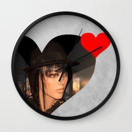 queen of hearts Wall Clock
