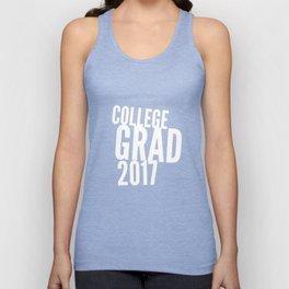 College Grad 2017 in White Unisex Tank Top